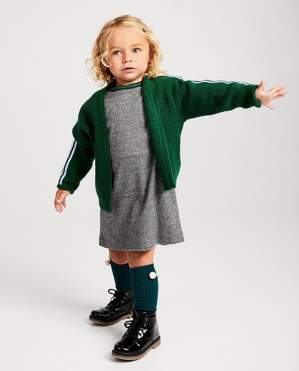 Cardigan vert en fin tricot - avec rayure - JBC
