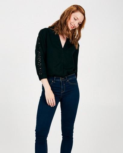 Zwarte blouse van lyocell Sora