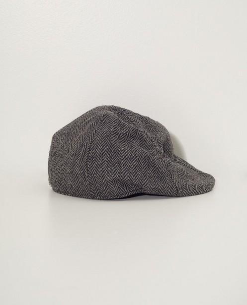 Béret gris - Collection de fête - motif à chevrons - JBC
