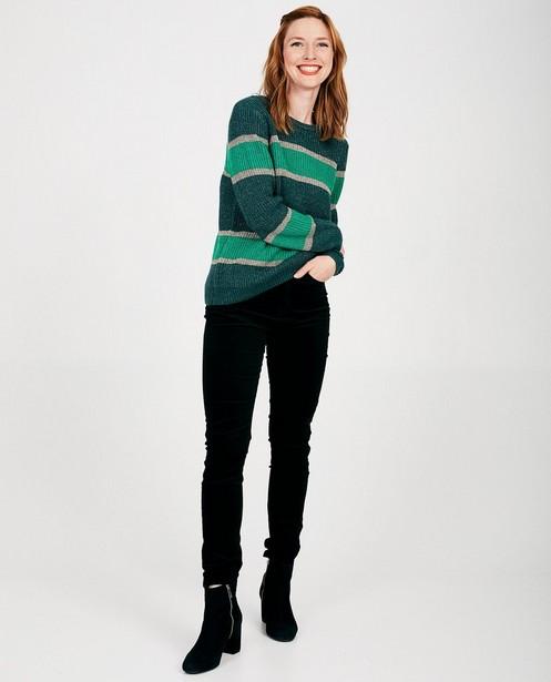 Groene trui met strepen Sora - allover - Sora
