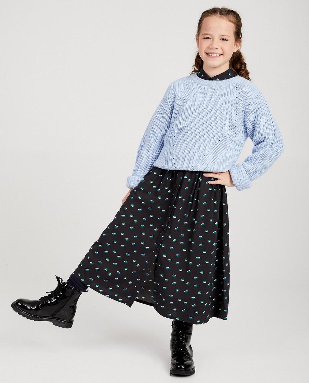 Pull en tricot bleu clair - tricot d'épaisseur moyenne - JBC
