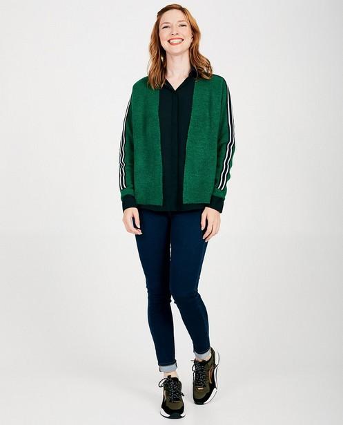 Cardigan vert Sora - fin tricot - Sora