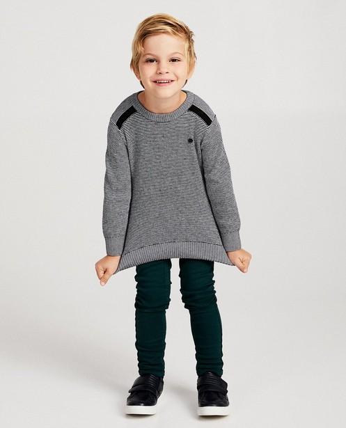 Pull à rayures noires et blanches - fin tricot - JBC