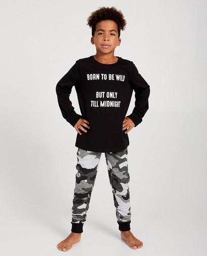 Tweedelige zwarte print pyjama