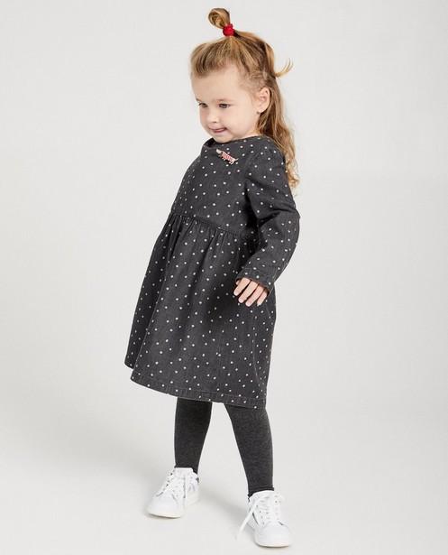 Grijs denim jurk met stippen - in grijs - Milla Star
