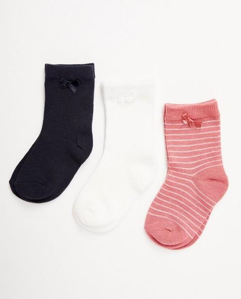 3 paires de chaussettes - plusieurs couleurs - JBC