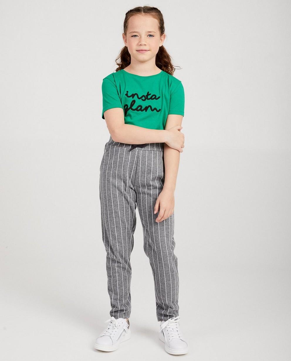 T-shirt vert - avec une inscription brodée - JBC