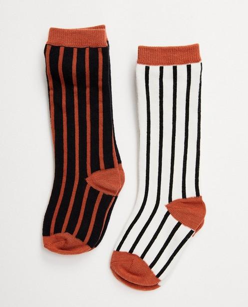 2 paires de chaussettes pour bébés - noires, brunes et blanches - JBC