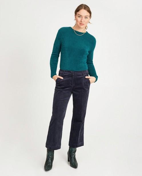 Pantalon bleu Karen Damen - velours côtelé - Karen Damen