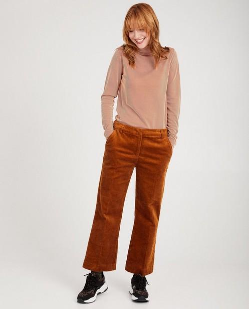 Blauwe broek Karen Damen - van ribfluweel - Karen Damen