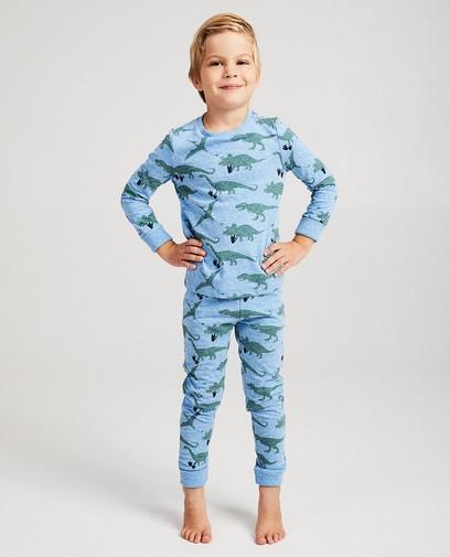 Blauer Mitwachs-Schlafanzug mit Print