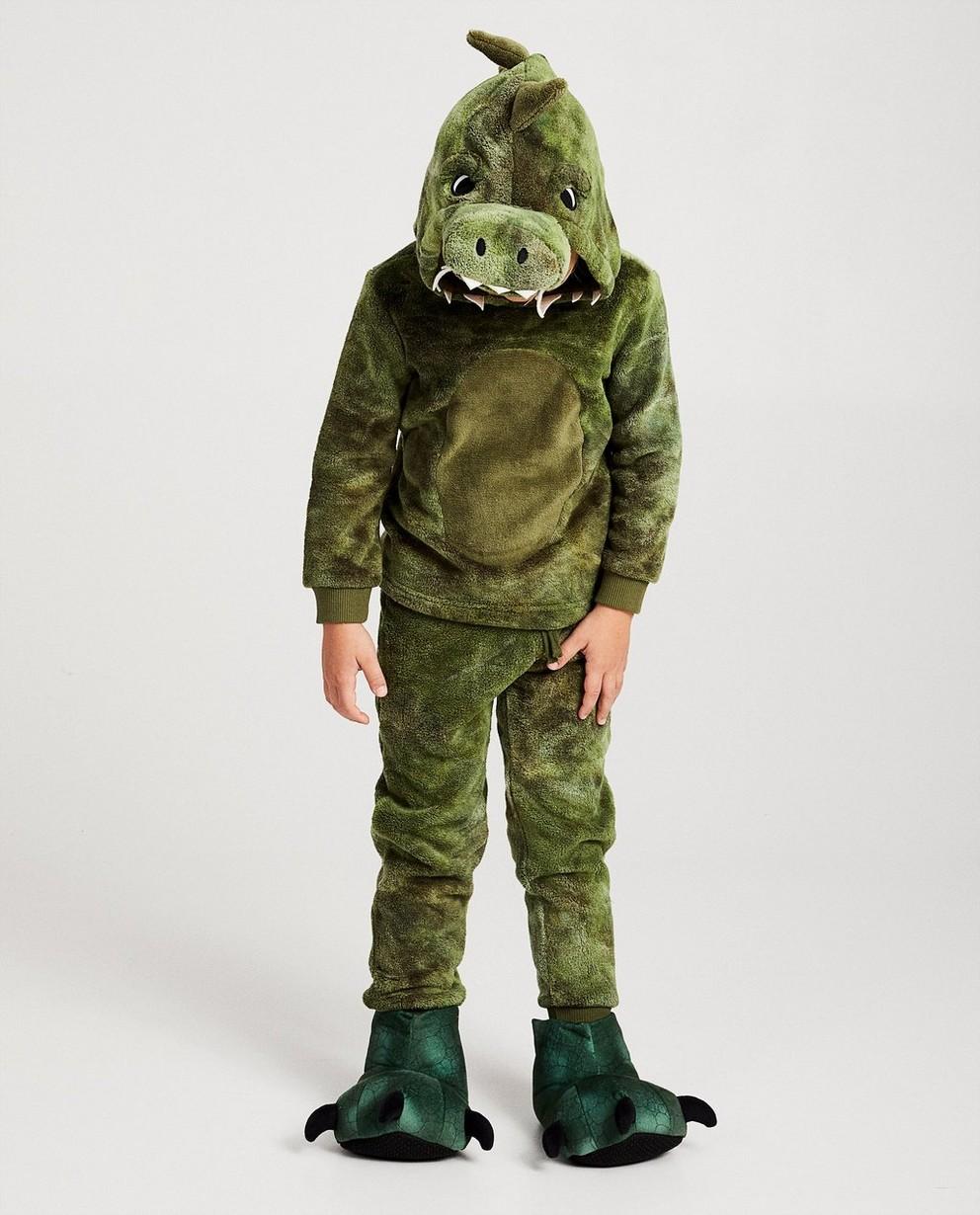 Krokodillen-huispakje van fleece - in groen - JBC NL