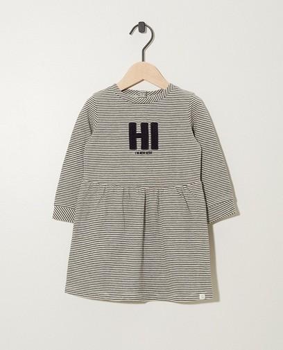 """""""Hi I'm new here"""" - Kleid mit Streifen"""