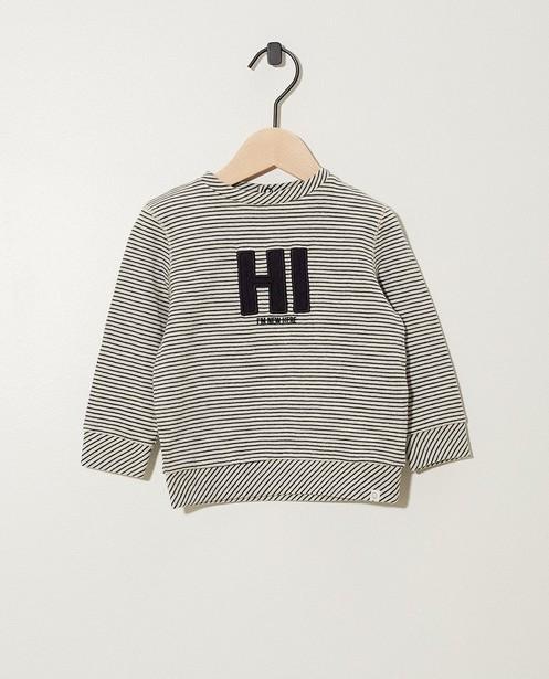 'Hi I'm new here' trui met strepen - strepen - Newborn