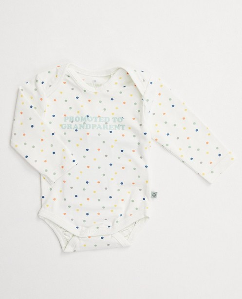 Body à pois, 100 % coton - boutons-pressions - Cuddles and Smiles
