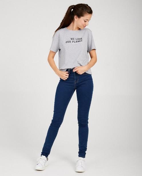 Grijze T-shirt met quote - quote - Groggy