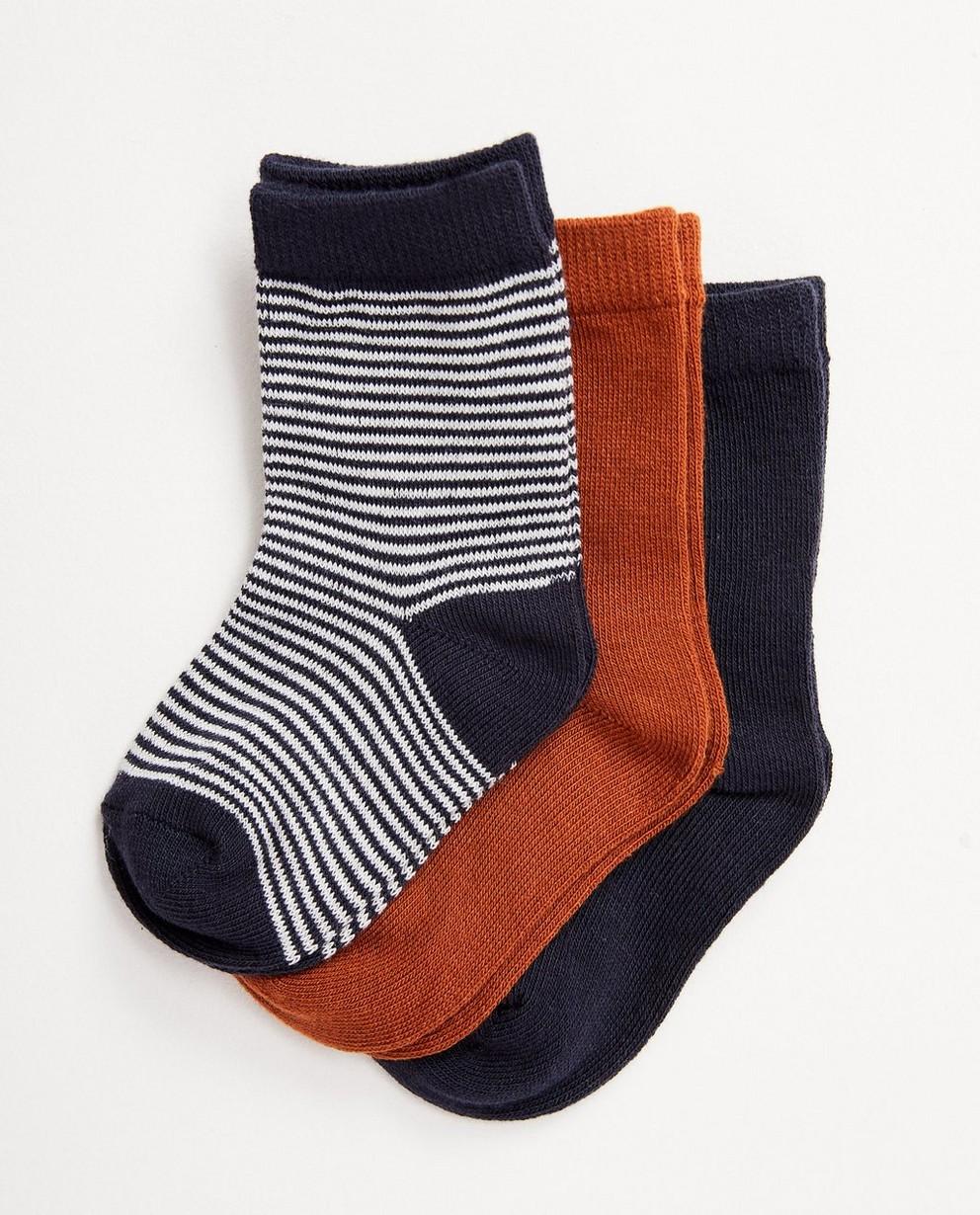 3 paires de chaussettes pour bébés - plusieurs couleurs - JBC