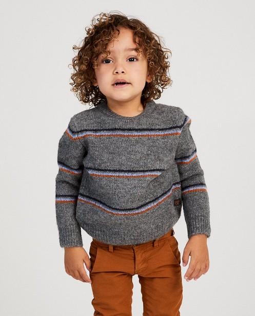 Pull gris rayé Samson - fin tricot - Fred & Samson