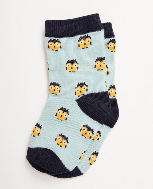 Chaussettes bleues pour bébés - imprimé animal, en 3 couleurs - JBC
