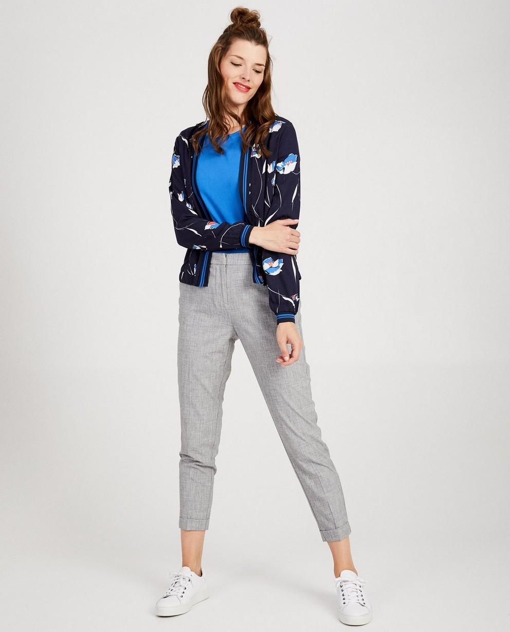 Blauw vest met print Sora - allover - Sora