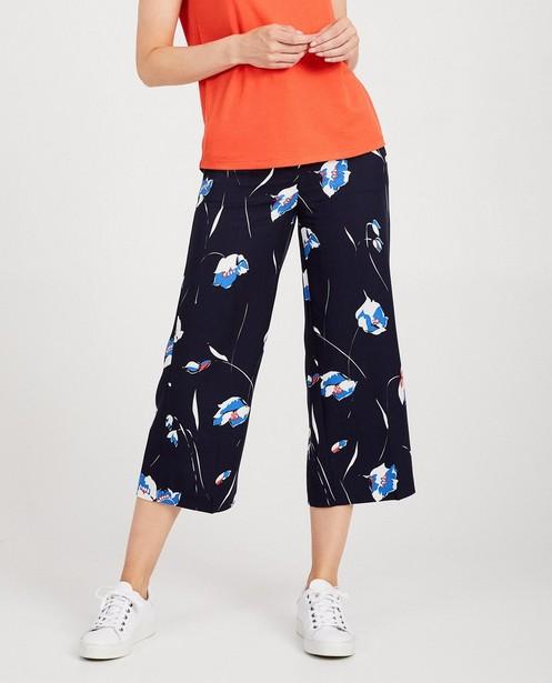 Pantalons - Jupe-culotte bleue Sora