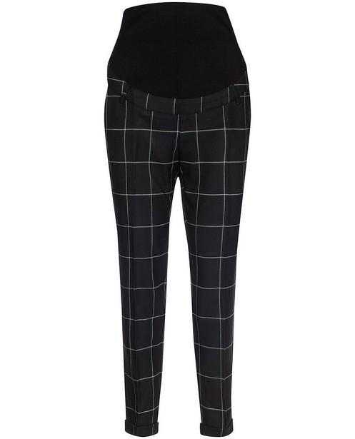 Zwarte broek met ruit JoliRonde - allover - Joli Ronde