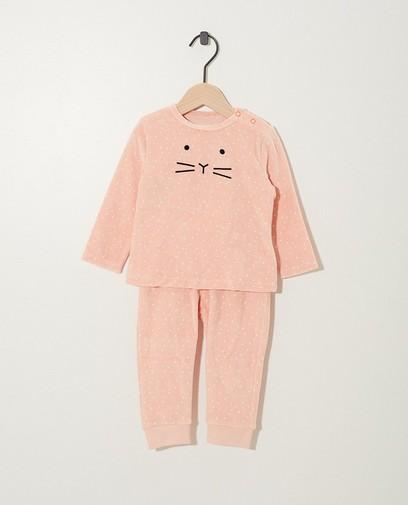 Roze fluwelen pyjama