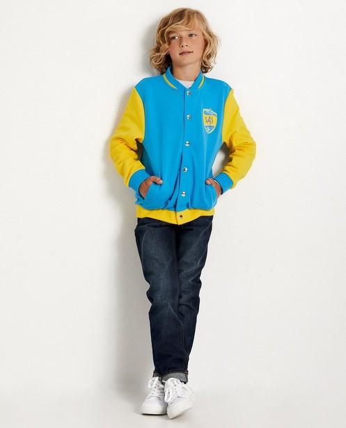 Blauw-gele bomber #Like Me - bomberjack - Like Me