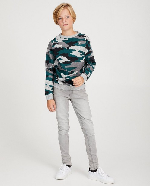 Sweater met camouflage - allover - fish