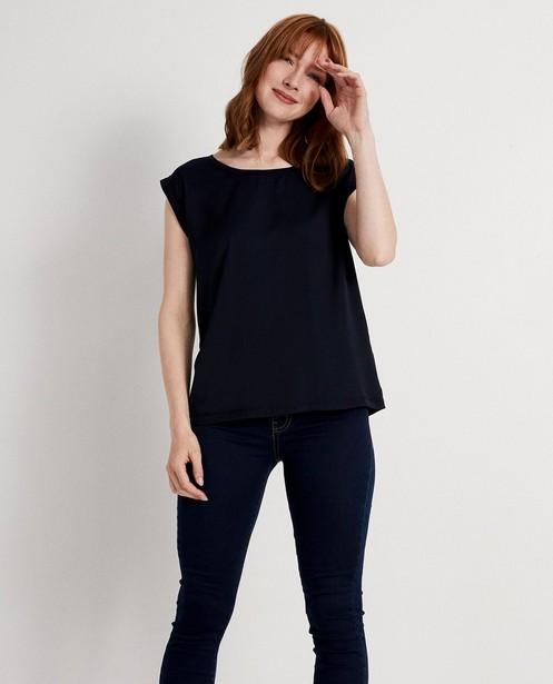 T-shirts - navy - Top bleu foncé