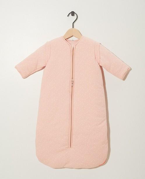Sac de couchage rose en coton bio - imprimé intégral - cudd