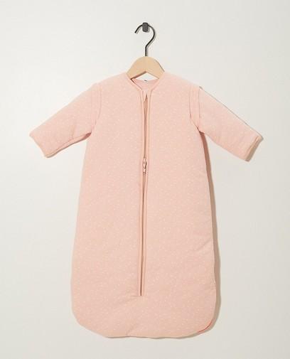 Sac de couchage rose en coton bio