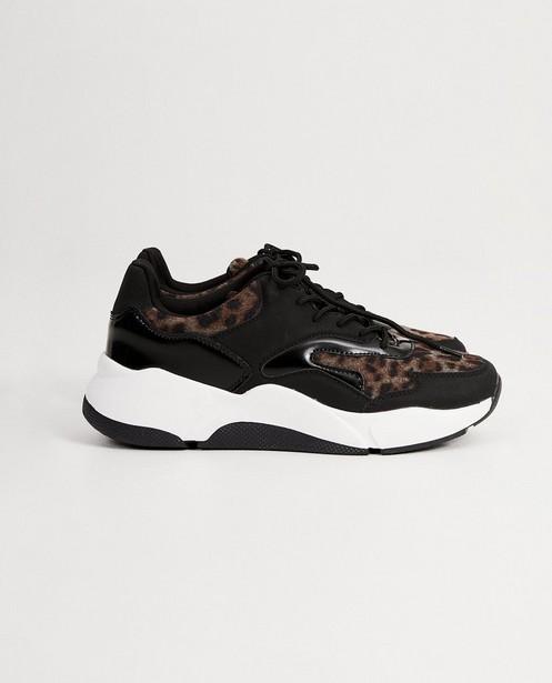 Zwarte sneakers Sora - met dierenprint - Sora