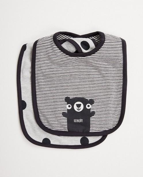2 bavoirs en coton bio - ensemble - Cuddles and Smiles