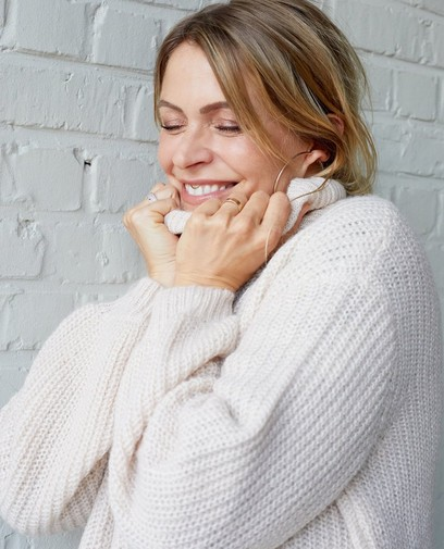 Witte gebreide trui Karen Damen