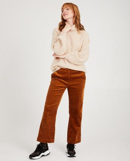 Witte gebreide trui Karen Damen - cosy & comfy - Karen Damen