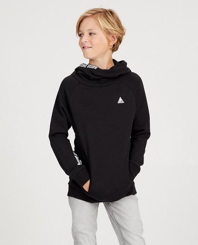 Zwarte sweater met sjaalkraag