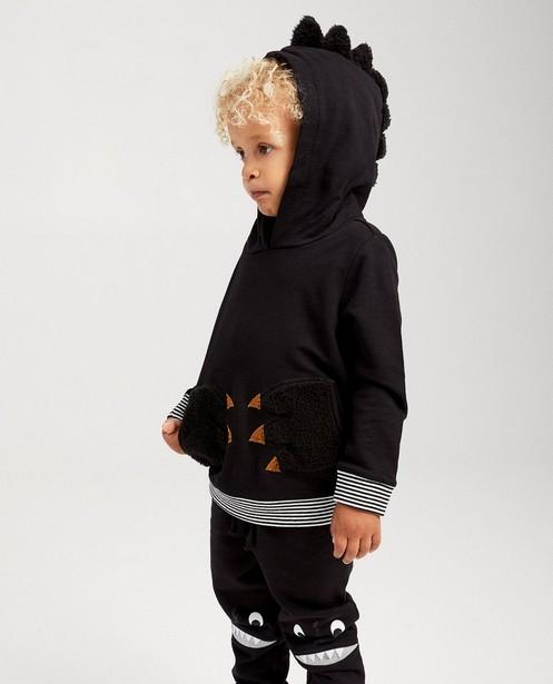 Zwarte hoodie met klauwen - van fleece - kidz