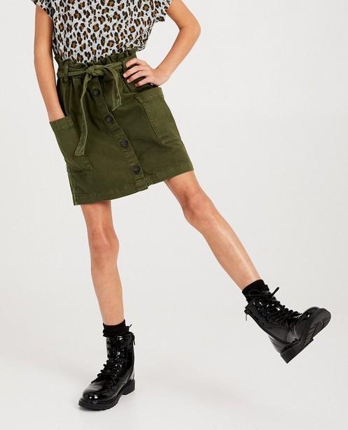 Jupes - green - Jupe kaki en coton bio I AM