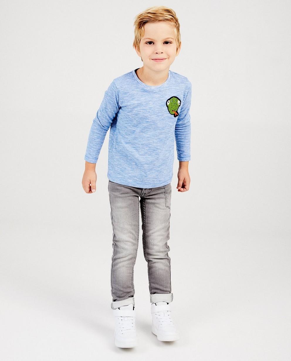 T-shirt bleu avec un serpent - à rayures - kidz