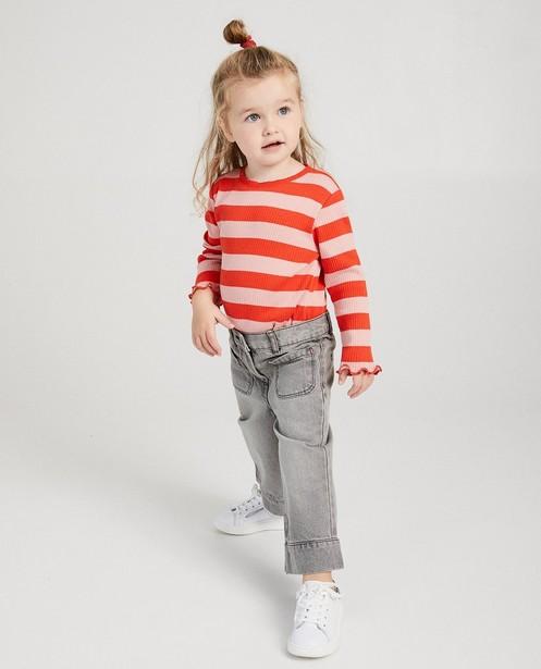 Jupe-culotte gris clair - en jeans - Milla Star