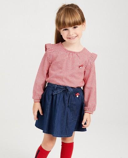 Rood-witte blouse met ruitjes Plop
