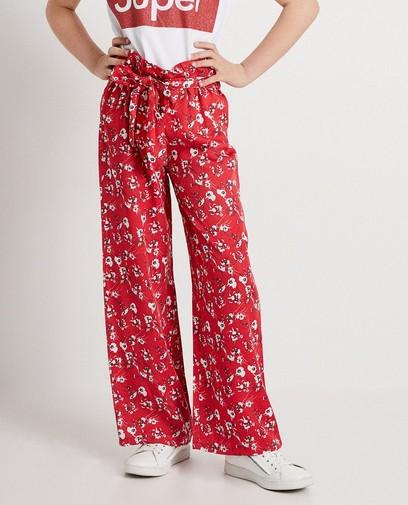 Rode broek met print Ella Italia