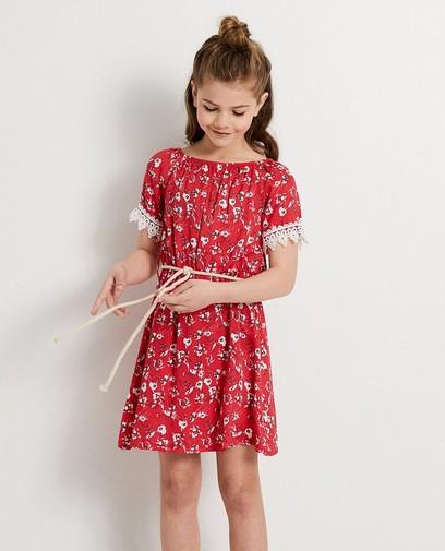 Rode jurk met print Ella Italia