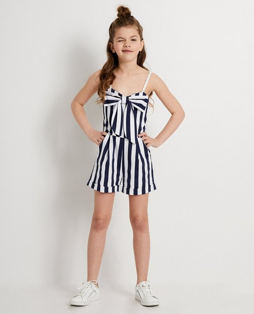 Combinaison Ella Italia - blanche et bleue, nœud - ella