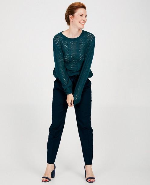 Pull en tricot ajouré Sora - bleu vert - Sora