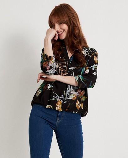 Zwate blouse met print Ella Italia