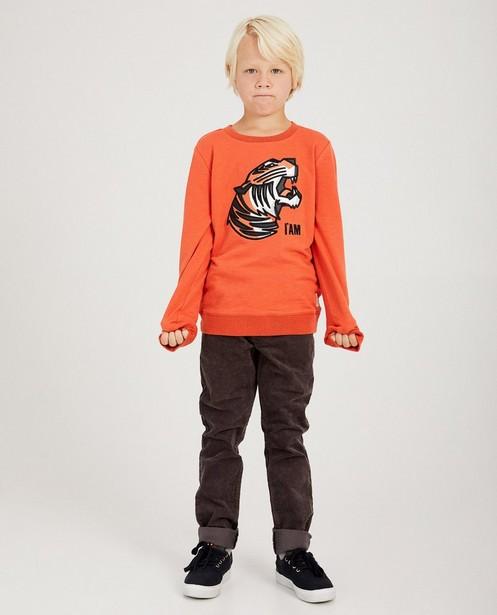 Grijze sweater van biokatoen I AM - gemêleerd - I AM