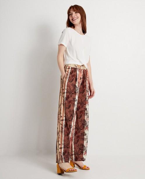 Pantalon Ella Italia - jambes larges, imprimé - ella