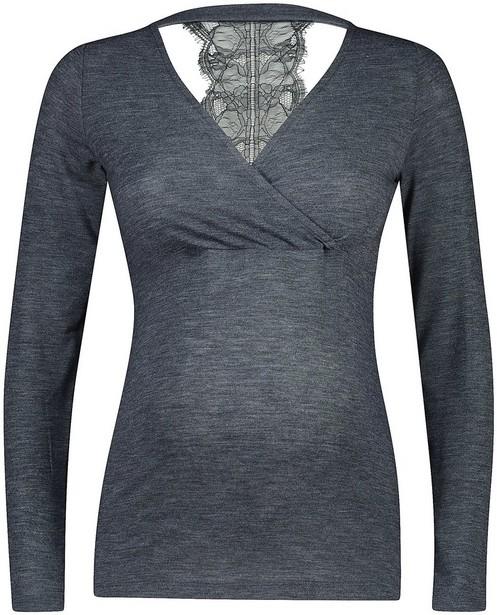 T-shirt2 en 1 à manches longues - gris foncé, Mamalicious - mali